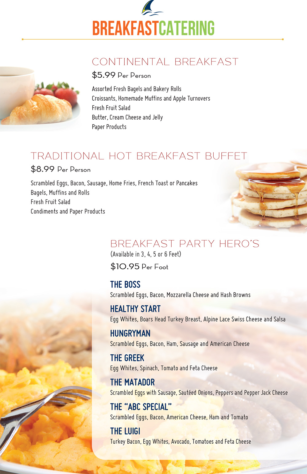 Our Catering Menu | Finn\'s Delicatessen & Caterers